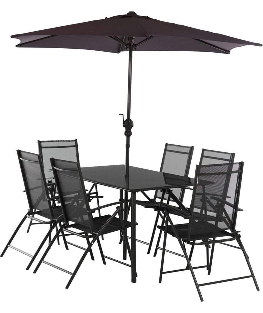 Buy milan 6 seater patio set at argos co uk your online shop for garden table and chair sets