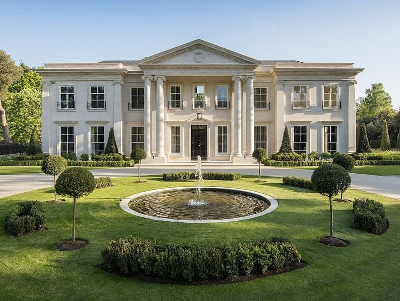 Homes Of The Rich On Instagram Hurstbourne An Exquisite Home With Indoor Pool 12 House Outside Design Luxury Homes Dream Houses House Designs Exterior