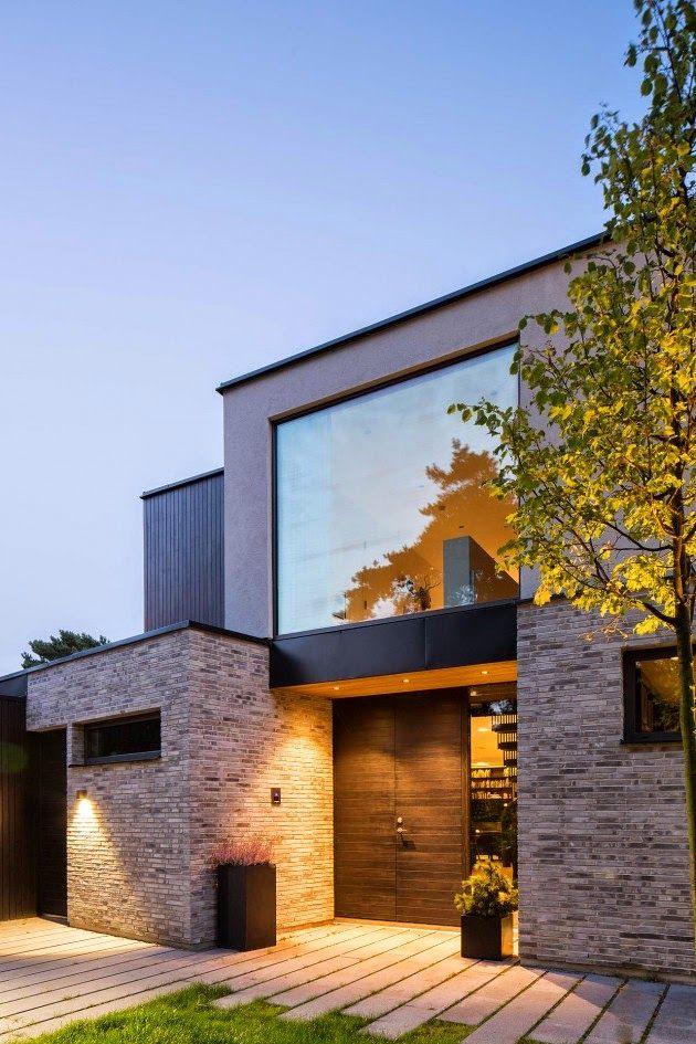 Casas minimalistas y modernas accesos piso exterior for Fachadas viviendas modernas