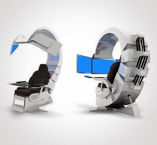 This super cool pin is from an article highlighting stylish and inventive office  desks of the  New Technology GadgetsHigh Tech  This super cool pin is from an article highlighting stylish and  . High Tech Desk Chairs. Home Design Ideas