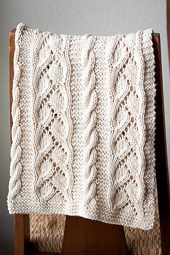 96 Fancy Cables And Lace Baby Blanket Pattern By