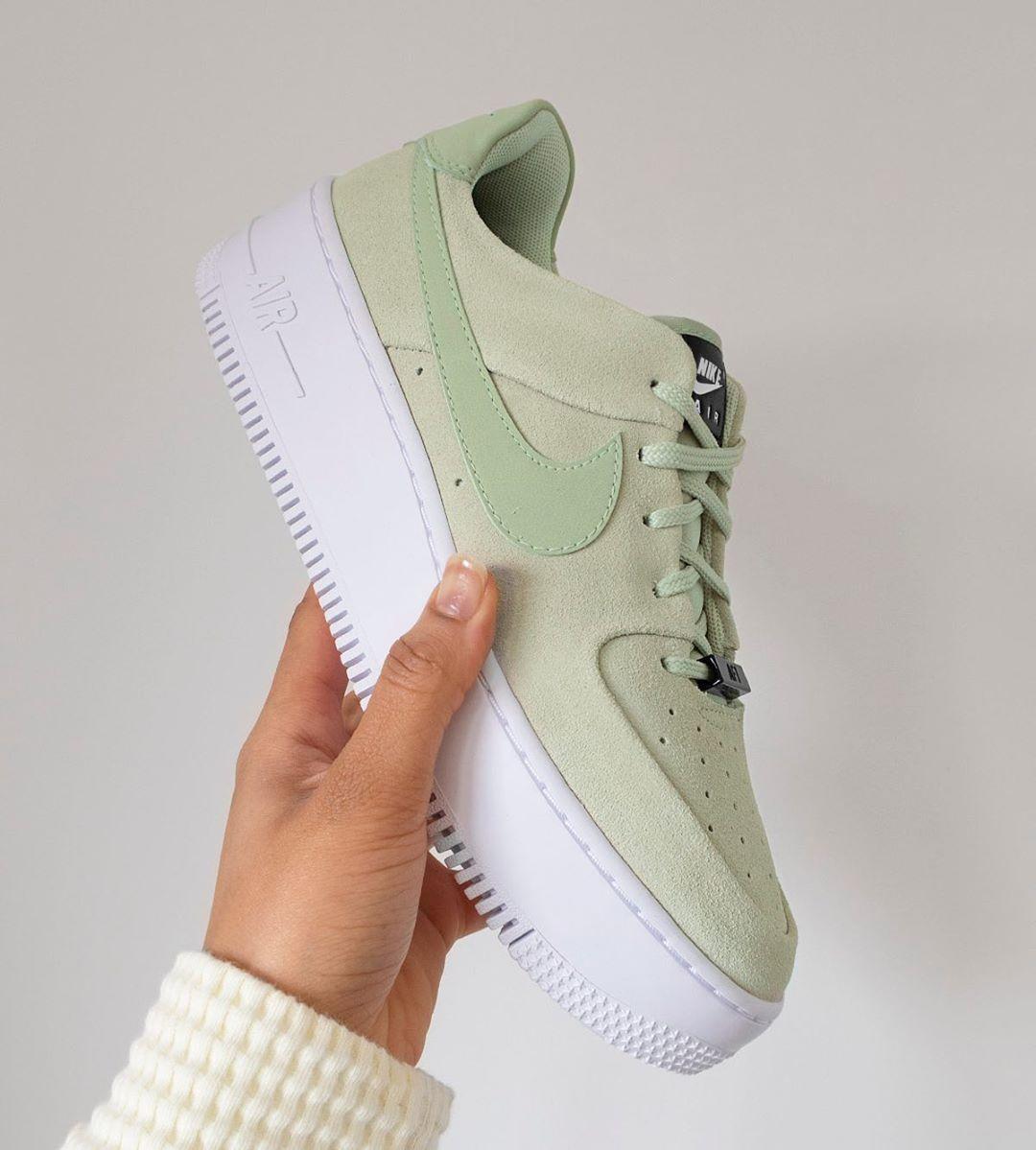 nike air force 1 sage green