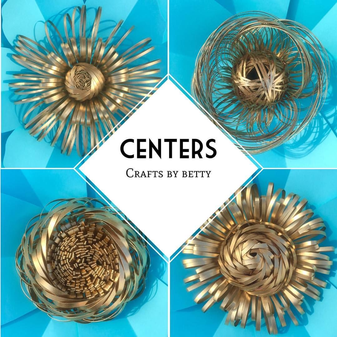 """Crafts By Betty on Instagram: """"Gold flower centers. So beautiful. . . Can be sprayed painted in gold, silver, rose gold and any other color. Possibilities are endless. .…"""""""