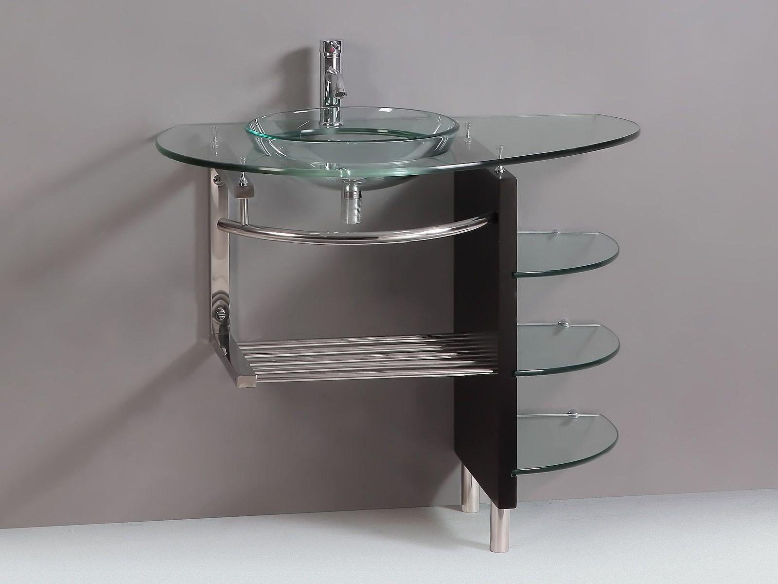 Glass Pedestal Sinks 39 4 Inch Complete Modern Glass Bathroom