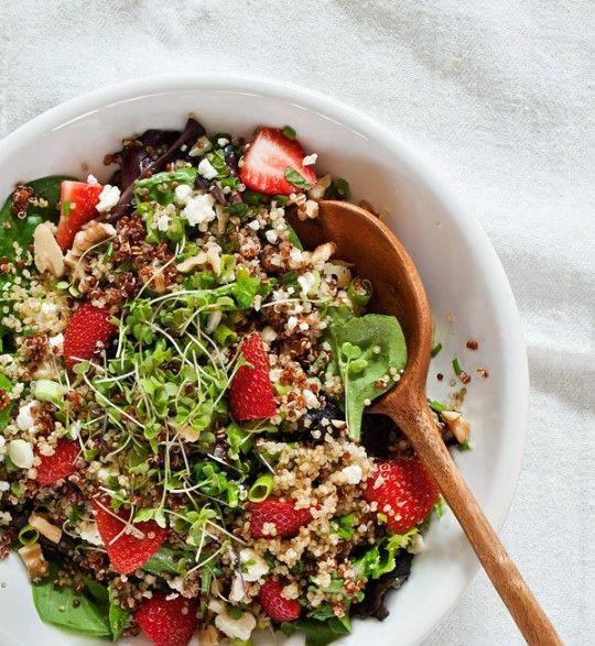 Strawberry quinoa & feta salad