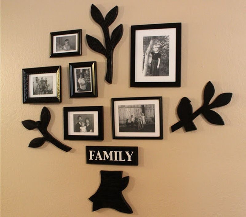 Unique Family Photo Frame Ideas: Unique Family Photo Frame Wall Ideas With  Cream U2013 Quakerrose