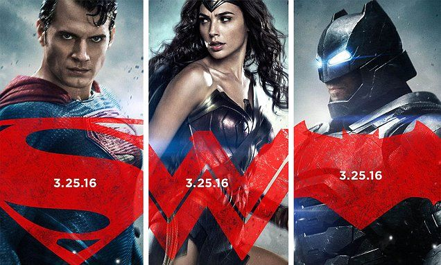 Batman V Superman Posters Of Ben Affleck Henry Cavill And Gal Gadots Wonder Woman