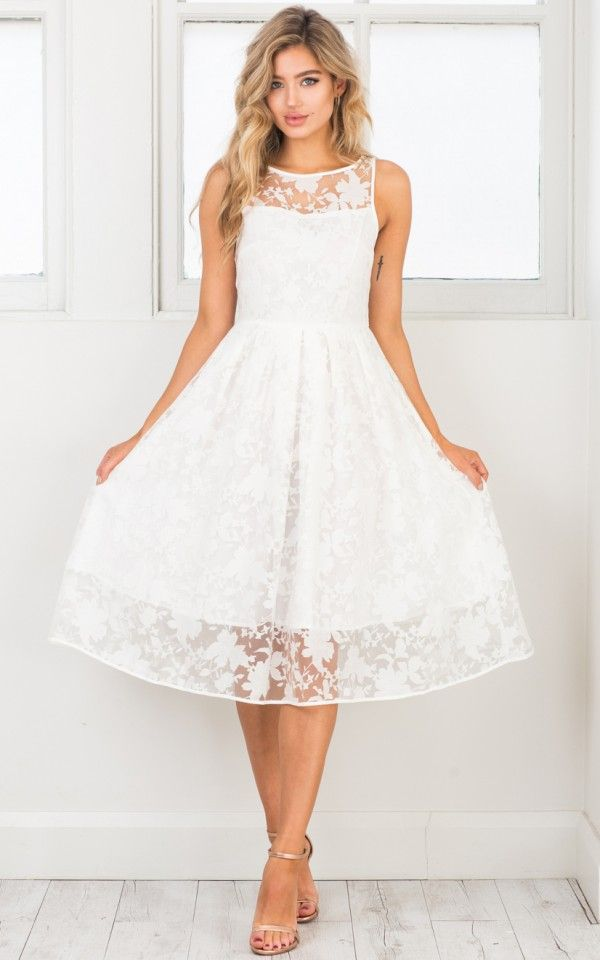 048ff9c59aaf Mad Tea Party dress in white I love the shape and lace on this dress! Just  wish it had sleeves.