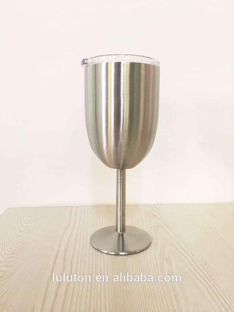 b14fbb36787 www.lltbottles.com Stainless Steel Wine Glass Durable metal 18/8 wine goblet  Vacuum Insulated Double Wall Design Keep Drinkings Hot or Cold for Hours.