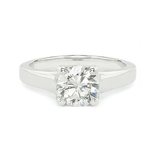 1.26 E SI1 ROUND CUT DIAMOND SOLITAIRE ENGAGEMENT RING http://www.larrysfinejewelryinc.com