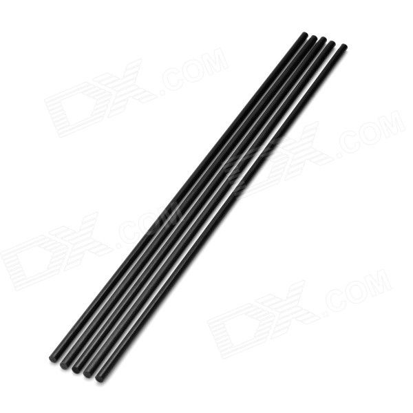 DIY 3 x 200mm Carbon Fiber Rod for Aircraft Model - Black (5 PCS). Suitable for scaled model, aircraft stiffene