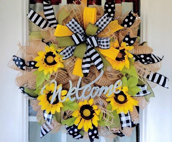 Photo of Everyday Wreath for Front Door, Rustic Door Wreath, Spring Door Wreath, Christmas Gift, Primitive Door Wreath, Spring Wreath