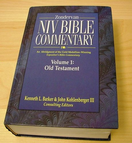Zondervan NIV Bible Commentary Vol 1 Old Testament EBay