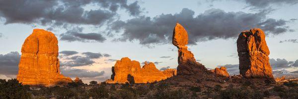 Print of Balanced Rock during sunset, Arches National Park, Utah, USA