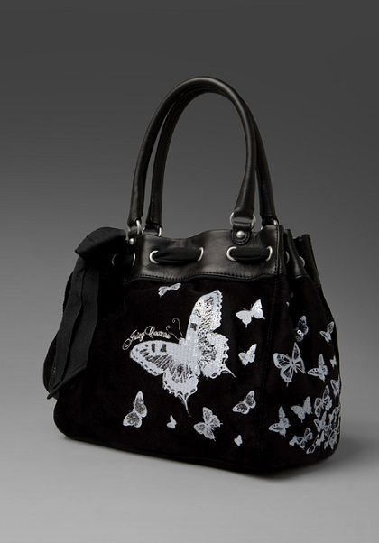 9fa617e210 juicy butterfly bag Juicy Couture Butterfly Velour Day Dreamer Tote ...