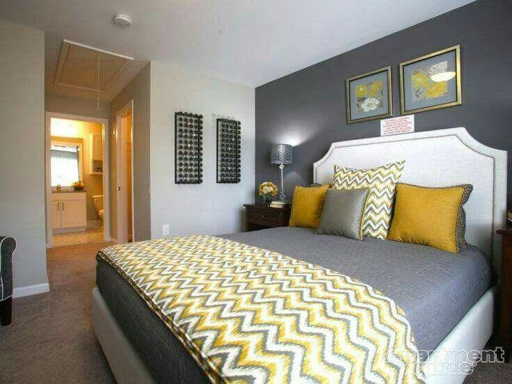 Gele Muur Slaapkamer : Pin van chelsei jane op spaces slaapkamer