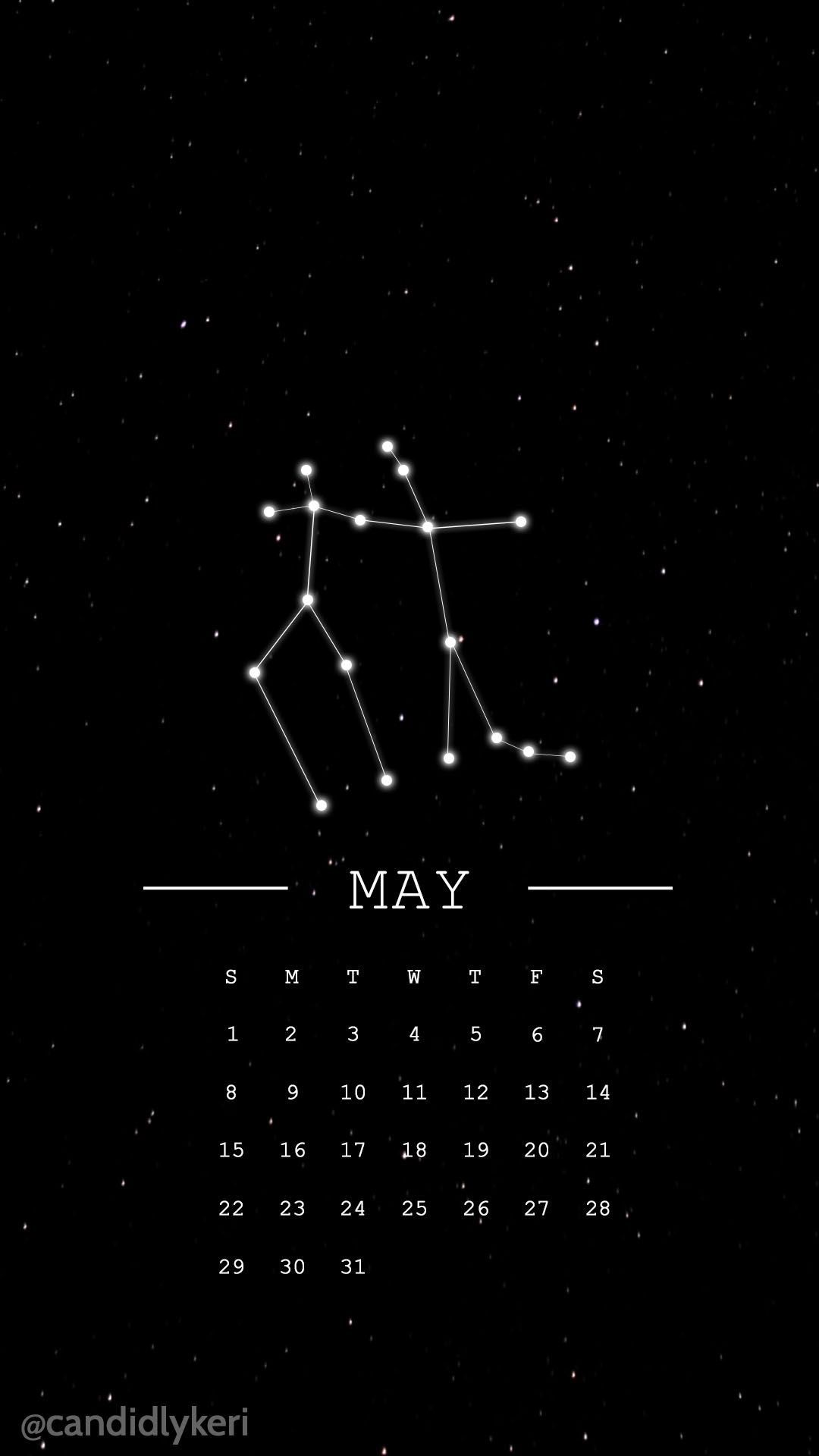 Gemini Horoscope Constellation May 2016 Calendar Wallpaper Free Download For Iphone Android Or Desktop Bac Calendar Wallpaper Gemini Wallpaper Taurus Wallpaper