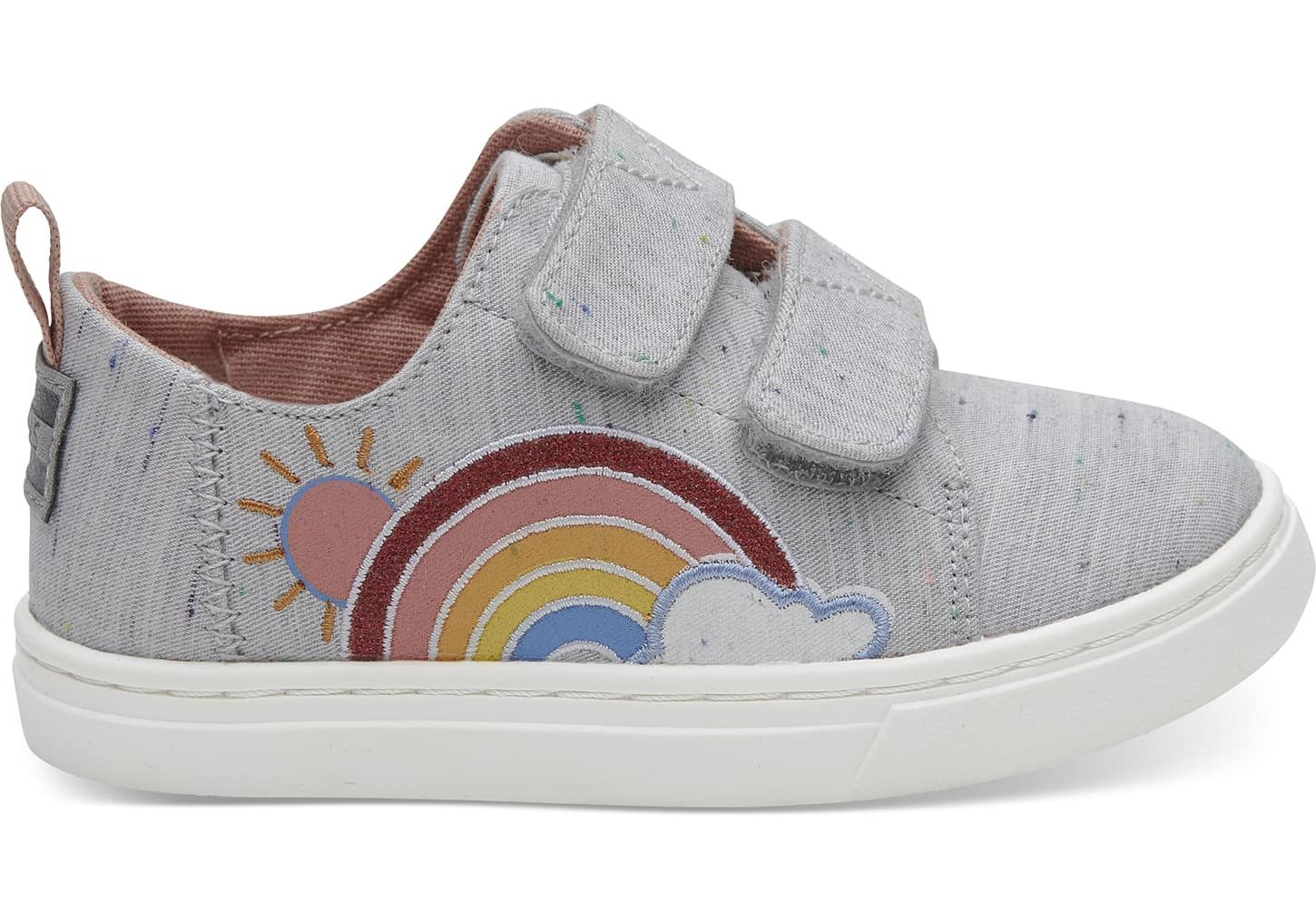 ceae79aadfa Grey Multi Drizzly Weather Tiny TOMS Lenny Sneakers