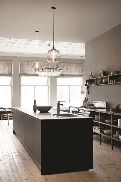 Pinterest  aménagement cuisine ouverte îlot central Cuisine, Open