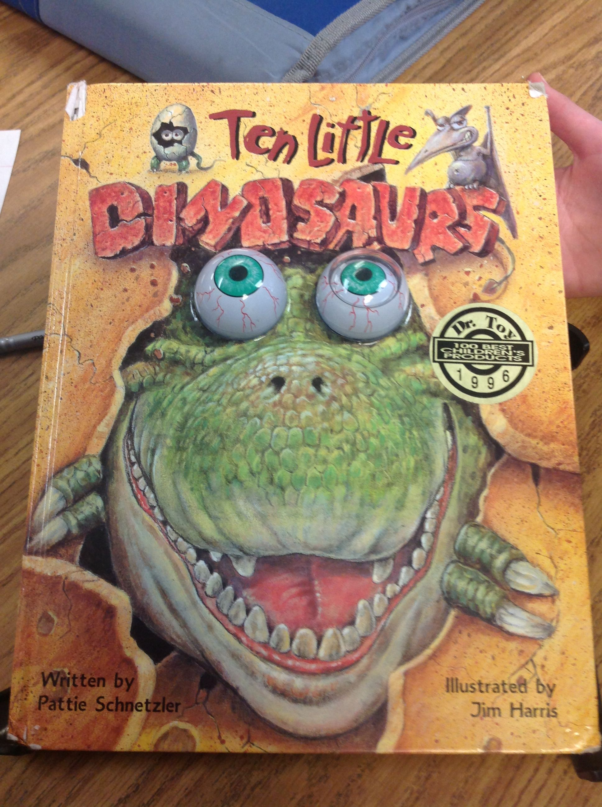 small resolution of My book is \Ten Little dinosaurs\.Ten little dinosaurs is about each number  of dinosaurs having a different talent and theme.I r…   Dinosaur
