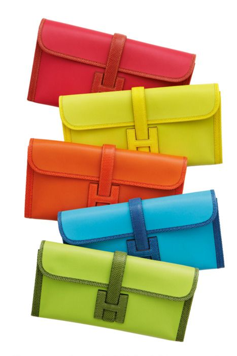"Colored Clutches ""H"" Hermes"