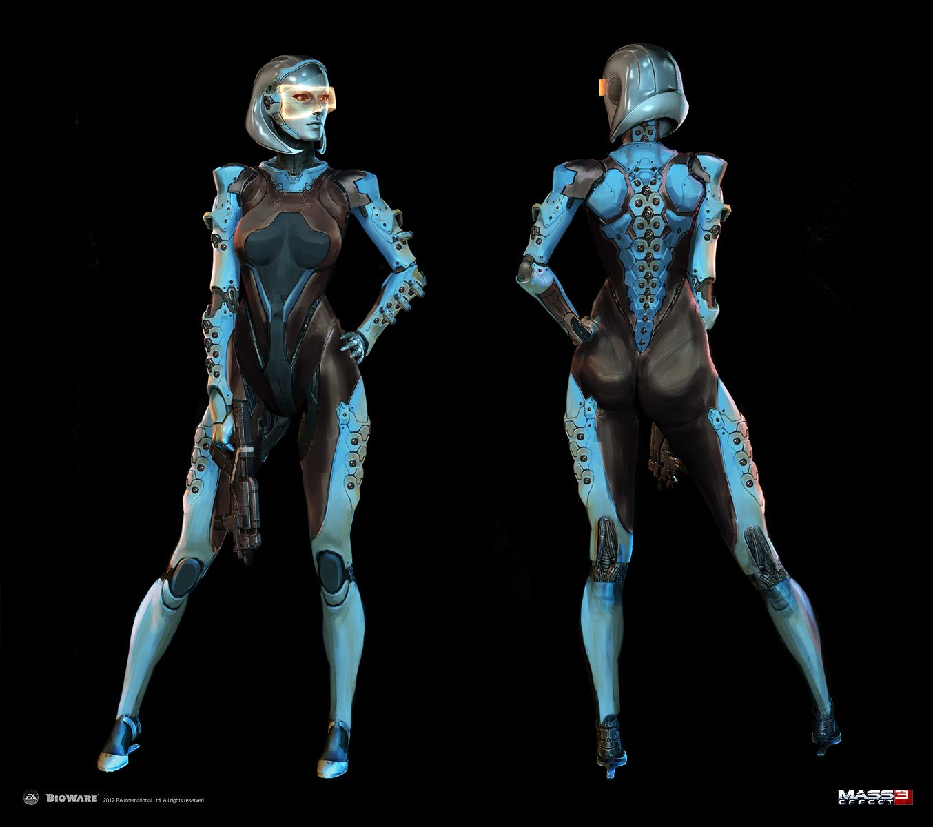 ArtStation - Mass Effect 3 - DLC Edi Alt appearance, Alex Figini