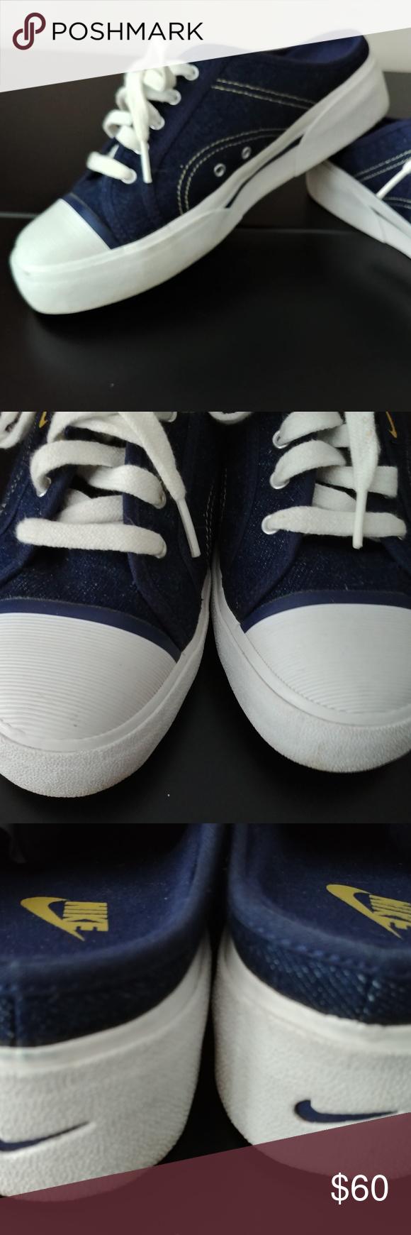 1d9afa5051928 Nike Vintage 90s Hermosa mule Nike Hermosa blue denim slip on mule ...