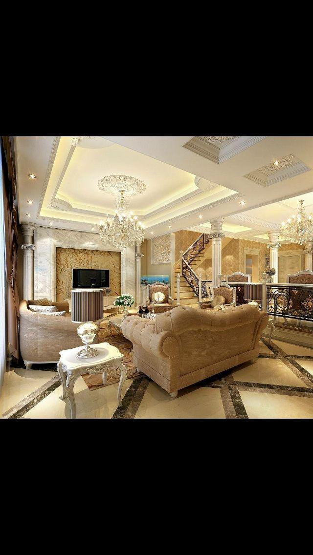 Living Room, Wohnzimmer, Beige, Braun CLASSIC DESIGN Pinterest - wohnzimmer design braun