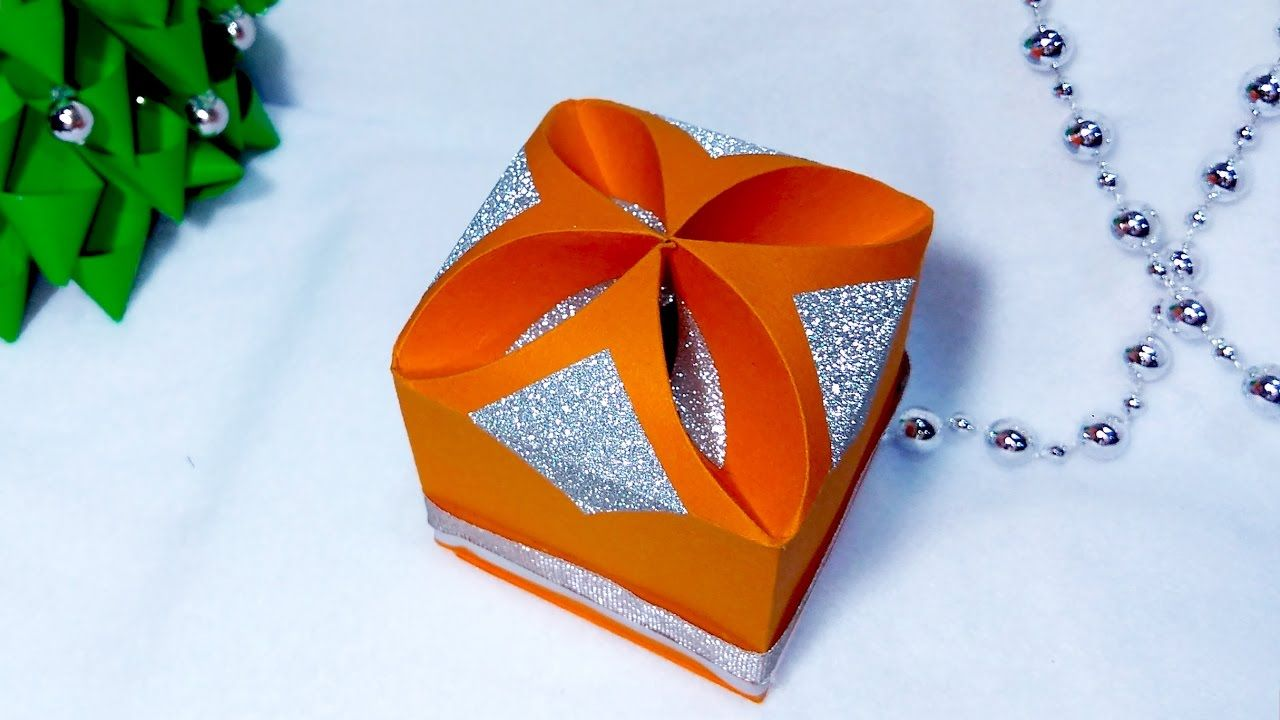 DIY Gift box - NO templates!!!!! ANY SIZE !  Easy and rich! Ideas for Ch...
