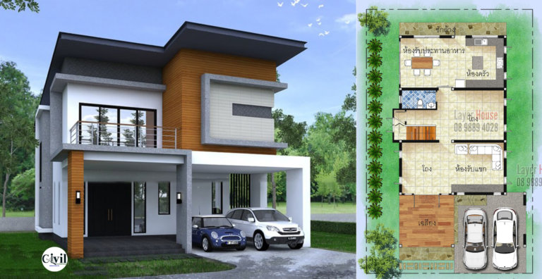 House Plans Idea 8 7x16m With 3 Bedrooms Engineering Discoveries House Design Stairs Design Modern House Plans