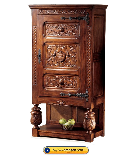 french furniture solid mahogany antique replica gothic revival armoire shelf gothic by design. Black Bedroom Furniture Sets. Home Design Ideas