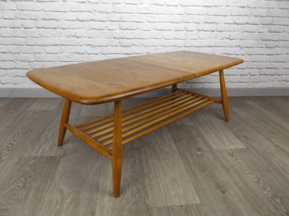 Completely Refinished Original Ercol Coffee Table In Blonde Light