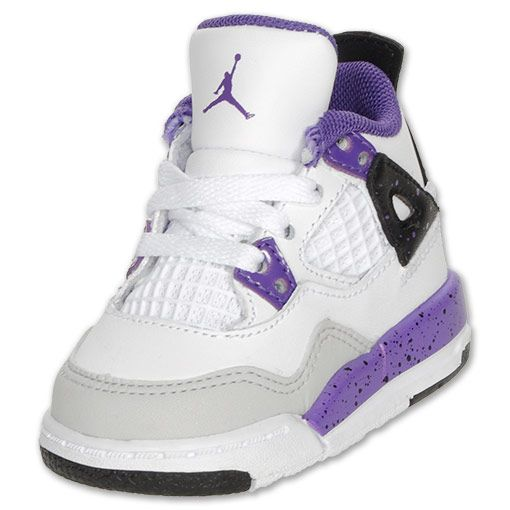 Nike Air Jordan Girls' 1 Retro Sneakers Grey. Guaranteed Authentic! Nike Air Jordan Girls' grey, purple and green leather Nike Air Jordan 1 Retro high-top sneakers with round toes, logo accents at sides, rubber soles and lace-up tie closures at uppers. Item - Wniaj more.