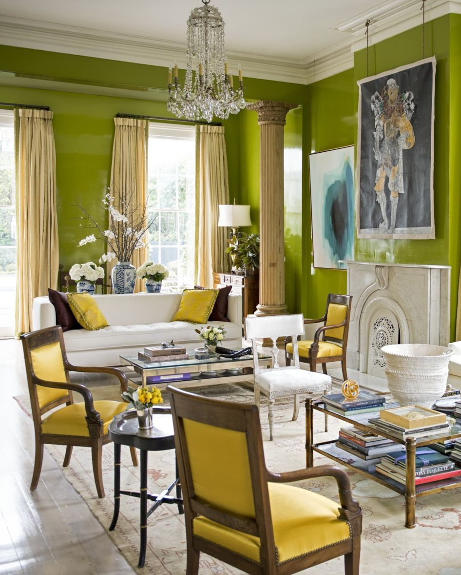 20 Colors You Should Be Pairing With Green Yellow Dining Room Room Home Living room yellow green