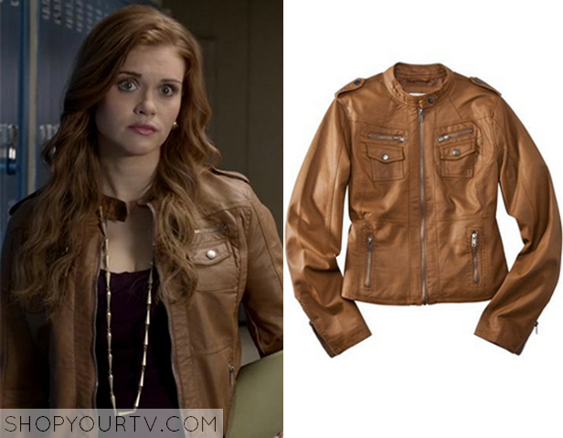 Lydia Martin (Holland Roden) wears this brown leather jacket in ...