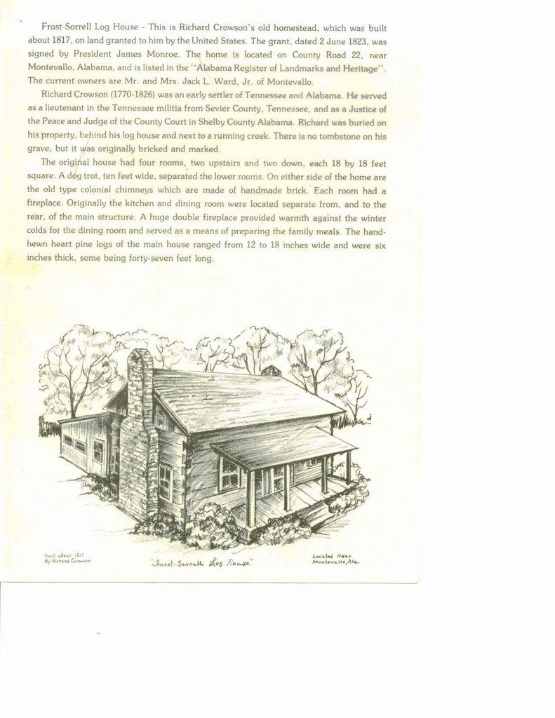the crowson family family tree richard crowson log house