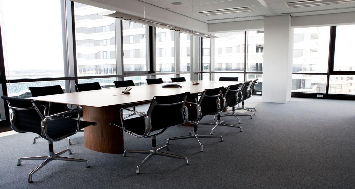 Meeting room into the premises of Neuberger Berman in La Haye, The Netherlands