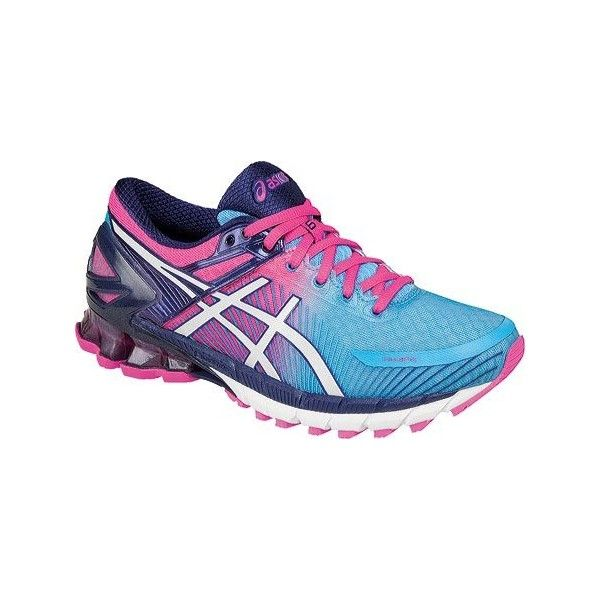 Women's ASICS GEL-Kinsei 6 Running Shoe - Aquarium/White/Hot Pink.