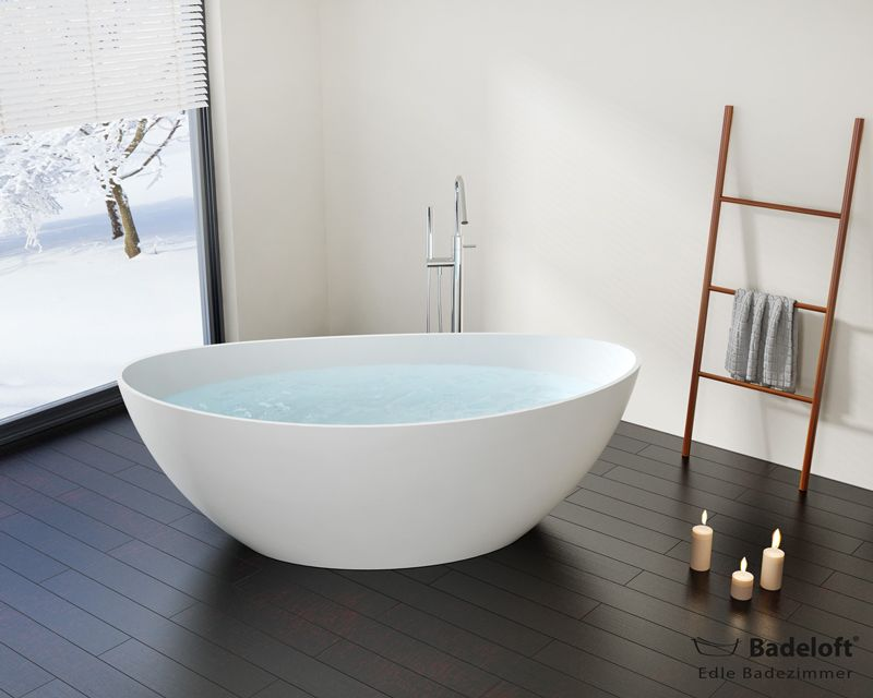 kleine freistehende badewanne bw 03 l aus mineralguss bad pinterest freistehende badewanne. Black Bedroom Furniture Sets. Home Design Ideas