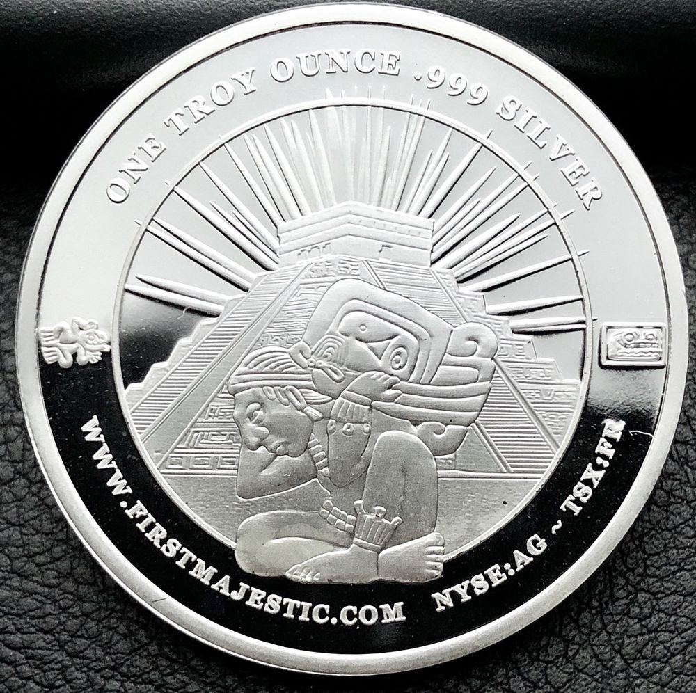 2017 First Majestic Mayan Design 1 Troy Ounce 999 Fine Silver Coin 4902 Silver Coins Coins Fine Silver