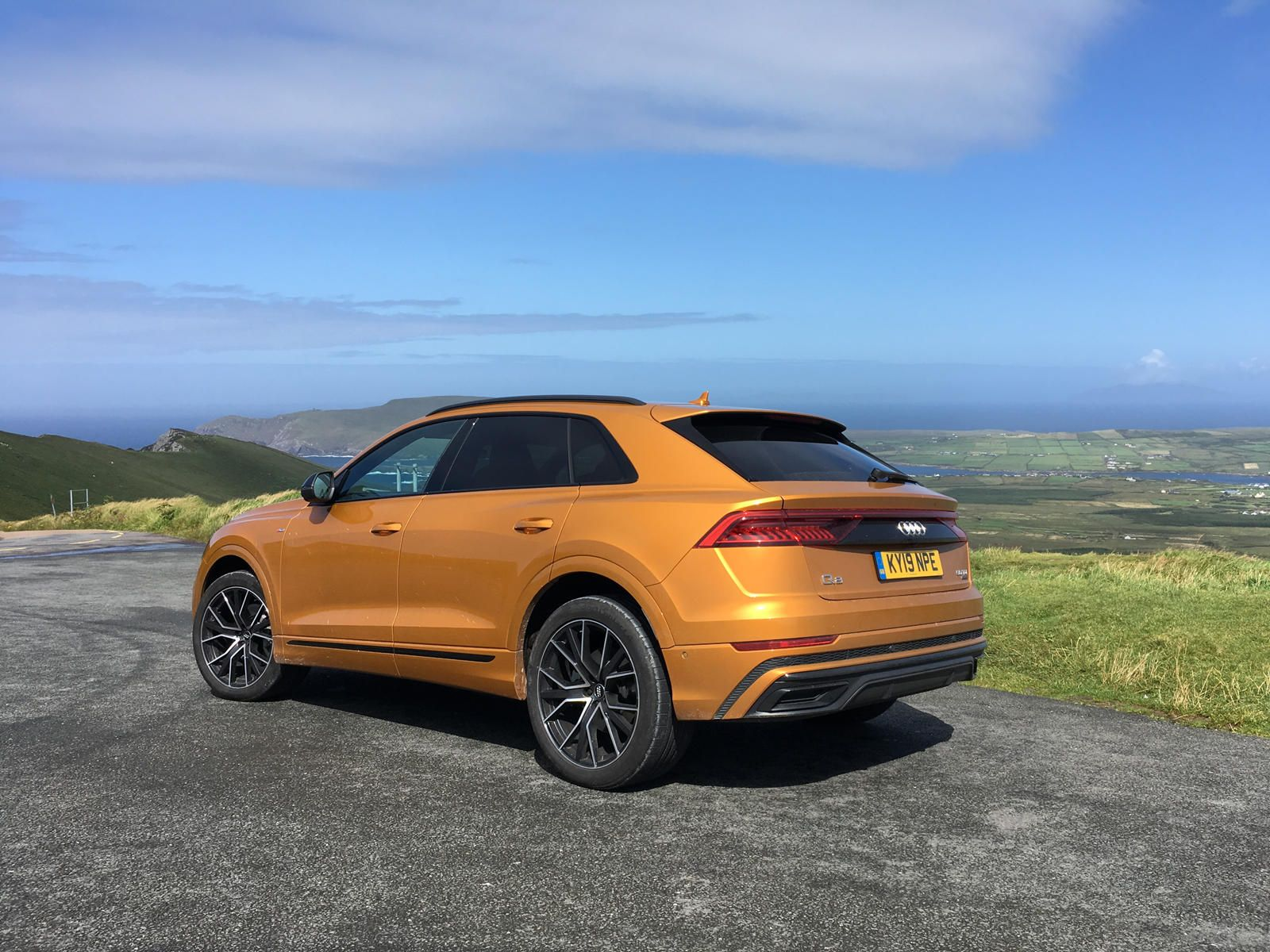 2019 Audi Q8 Rear Angle View Photo In 2020 Audi Fuel Economy Bmw X6