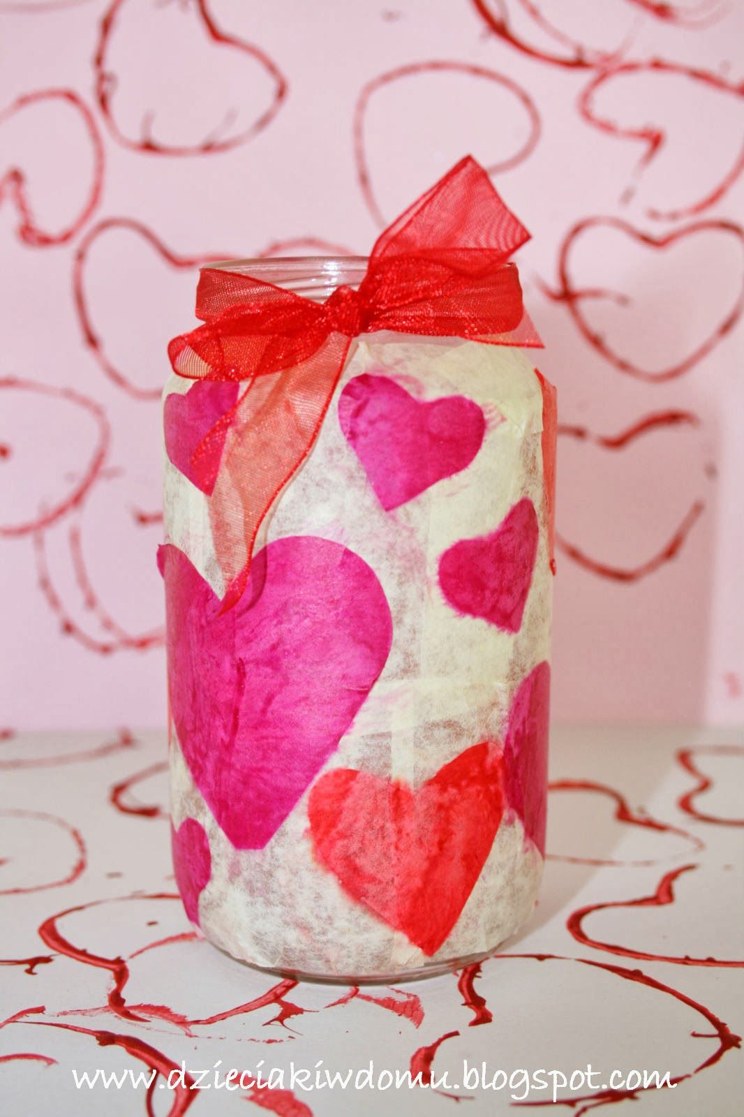 Walentynkowe Lampiony Diy With Images Crafts Valentines
