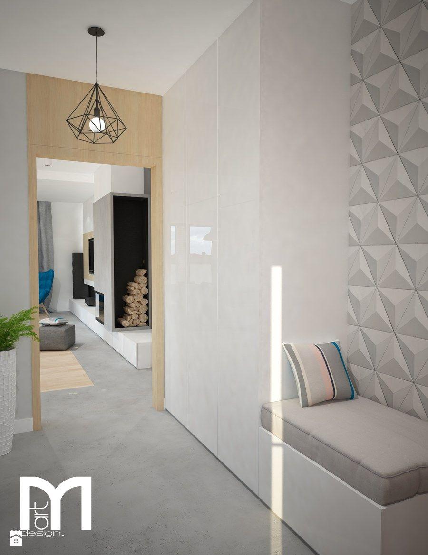 Dodatkowe Projekt domu jednorodzinnego z pastelowymi kolorami - Hol ZM29