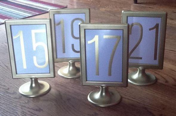 15 Gold Ikea Tolsby Frames Wedding Table Numbers Ebay By Falpal Hochzeit Tischnummern Ikea Hochzeit Hochzeitstisch