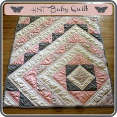 Ricochet and Away!: HST baby quilt tutorial Great Tutorial... not too hard at all.
