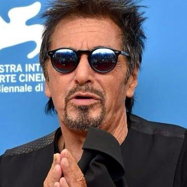 f1e08ee6b4e Al Pacino wears Gregory Peck in Black with custom mirror lenses ...