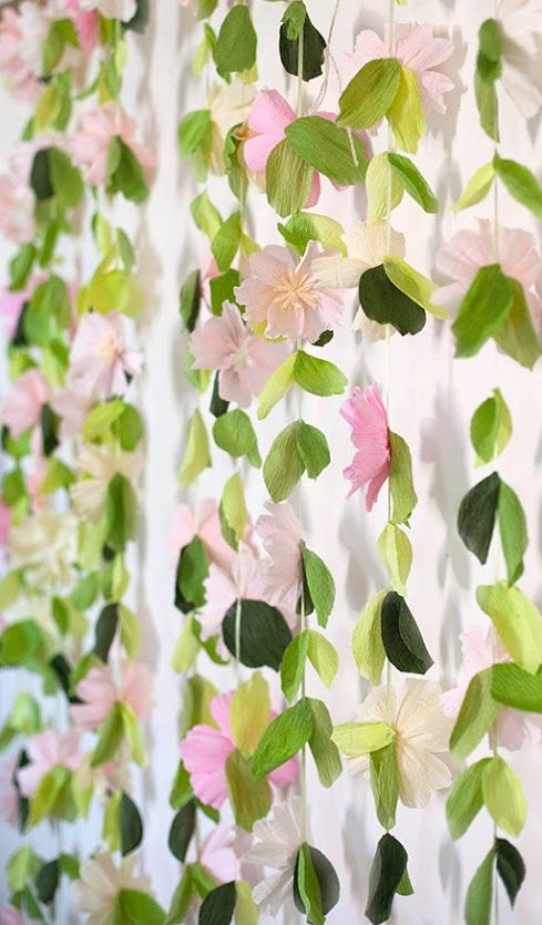 Make A Flower Garland Wedding Backdrop Origami Flower Garland