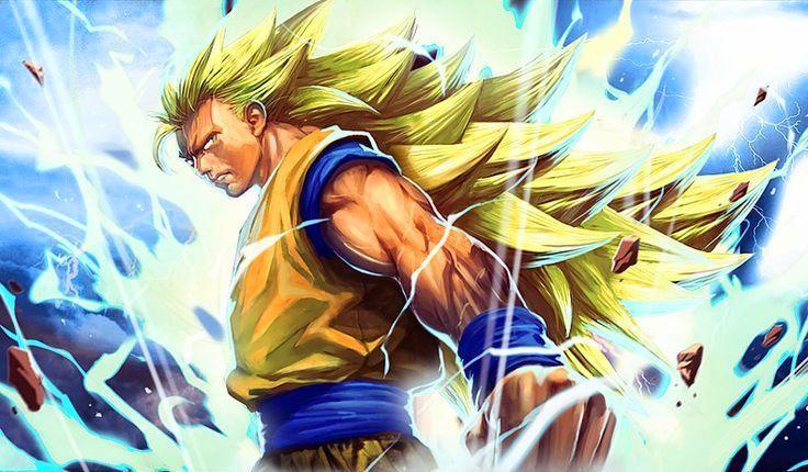 Son Goku Ss3 Dragon Ball Goku Anime Artwork