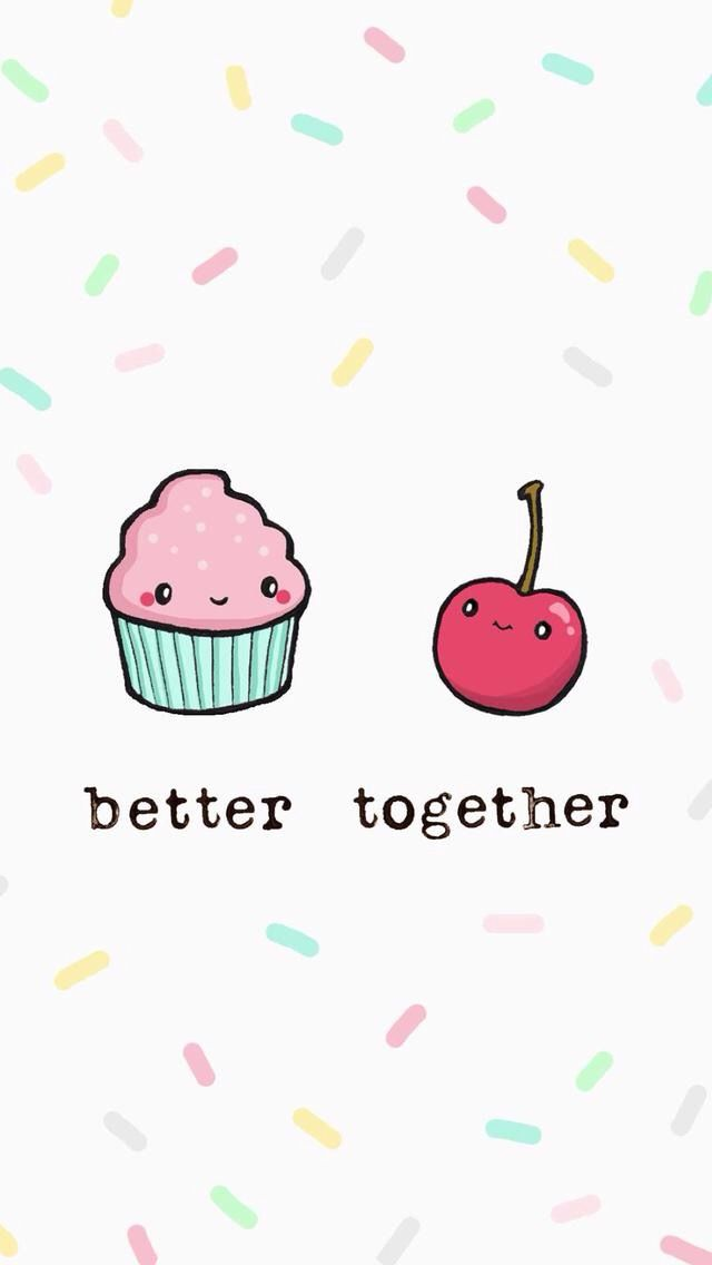 Pin By Sophia Stevenson On Better Together Cute Food Wallpaper Cute Wallpapers Cupcakes Wallpaper
