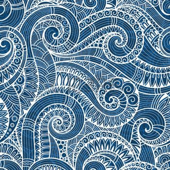 Batik Pattern Seamless Asian Ethnic Floral Retro Doodle